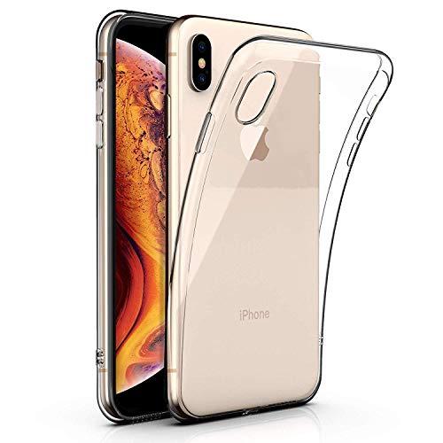 LONVIPI Cover iPhone XS/X [Supporta la Ricarica Wireless] Trasparente Sottile