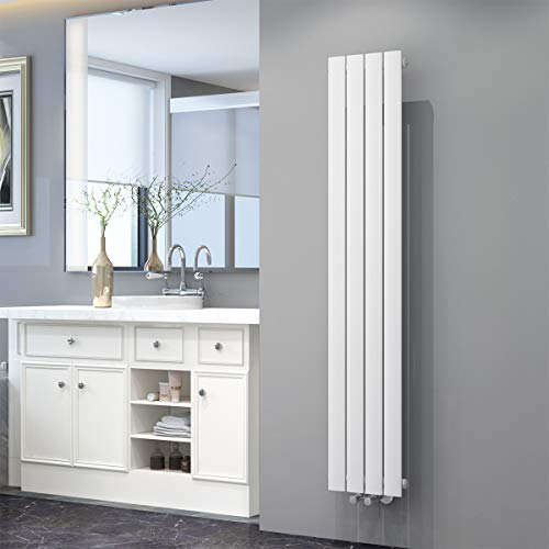 ELEGANT Badheizkörper Design Flach Heizkörper 1600x308mm Weiß Paneelheizkörper Vertikal Mittelanschluss Einlagig