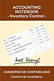 ACCOUNTING NOTEBOOK - Inventory Control: CUADERNO DE CONTABILIDAD - Control de Inventario