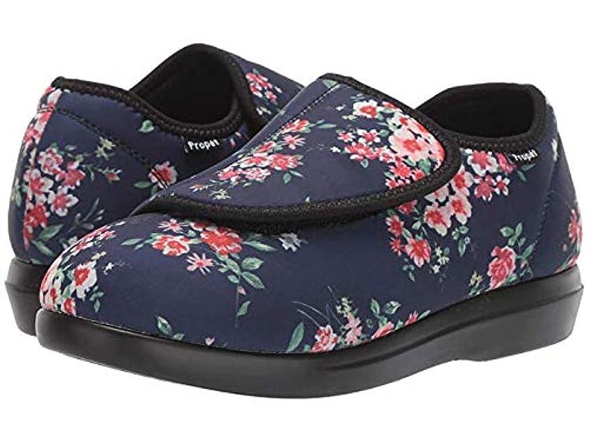 国籍対称血[プロペット] レディースローファー?靴 Cush 'N Foot Navy Blossom (26.5cm) M (B) [並行輸入品]