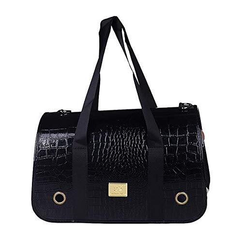 Warm huis huisdier tas uit tas draagtas mode hond tas kat tas huisdier tas hond rugzak handtas benodigdheden leuk, L, Zwart