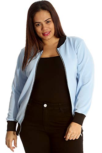 Nouvelle Collection Rambock Niete Bomberjacke Babyblau 54-56