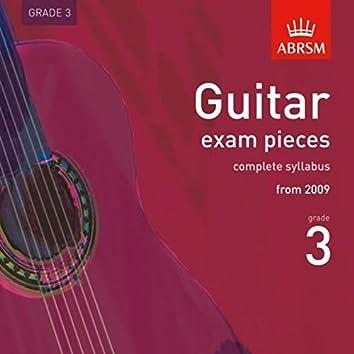 Guitar Exam Pieces from 2009, ABRSM Grade 3