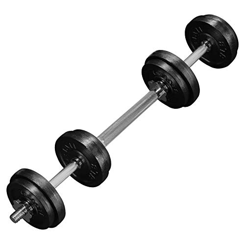 Yes4All Adjustable Dumbbells with Dumbbell Bar Connector – 60 lb Dumbbell Weights (30 lb x 2), Black