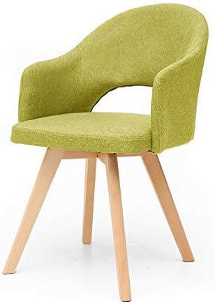 MU Creative Nordic - Chaises de Salle à Manger/Chaises moelleuses/Chaises de Bureau/Chaise de Loisirs avec Chaise en Bois vert