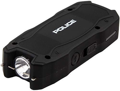 POLICE Stun Gun 1901 - Max Voltage USB Rechargeable with LED Flashlight, Black