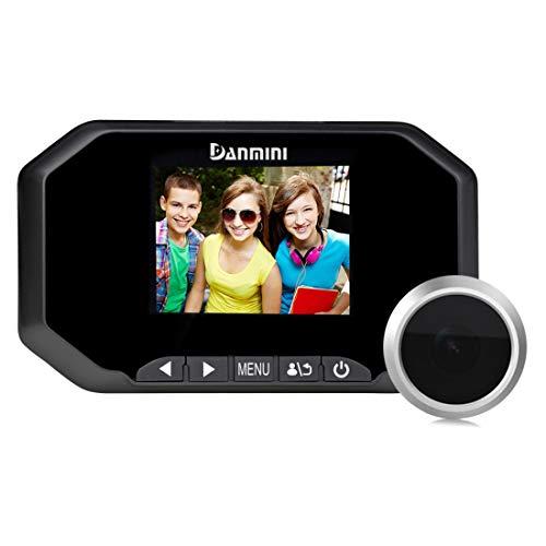 Yangjian Danmini YB-30BHD 3 inch scherm 2,0 MP beveiligingscamera voor het fotograferen en opnemen van video's van peephole op de poort, ondersteuning voor TF-ondersteuning, zwart, Zwart