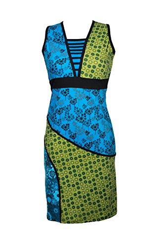 Filosophie Buntes Ethno Kleid mit femininen Details und bunten Stickereien – Hippie Chic - 100{b7ecf3b2c3bab0a069be8e81431e485a7ffac47bd3a94132d8c135ab558e021f} Baumwolle - ZOLA (S/M)