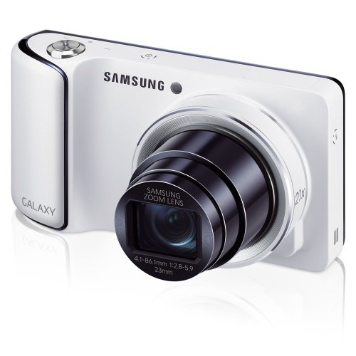Samsung Galaxy Camera with Android Jelly Bean v4.1.2 OS, 16.3MP CMOS with 21x Optical  Zoom and 4.8' Touch Screen LCD, WiFi (White) (OLD MODEL)
