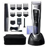 hatteker barbero cabello para hombre afeitadora eléctrica Profesional Pantalla LED inalámbrico recargable USB impermeable