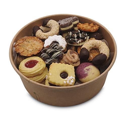 Kekse hochwertig handgemacht mit Teegebäck in Keksmischung 600g in der wiederverschließbaren BioBox: Handgemachte Kekse ohne Ei