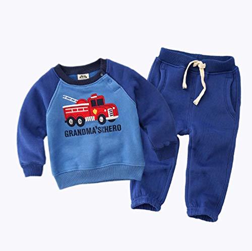 Peuter Kids Trainingspak Joggingpak 2 Stks Set Baby Meisjes Jongens Lange Mouw Crew Neck Fleece Sweater Top + Broek Set voor 1-6 Jaar Lente Herfst Tracksuit