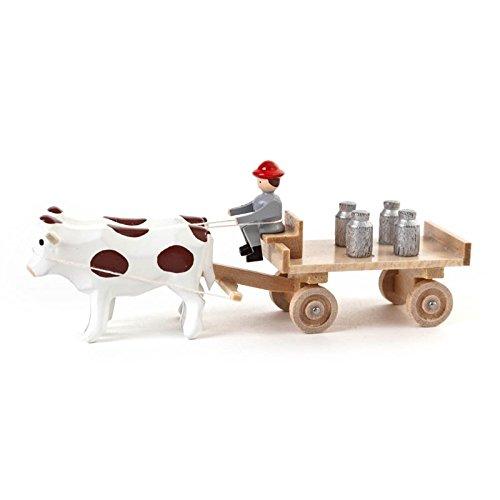 Miniatura buey pizarra carro jarras–Dregeno