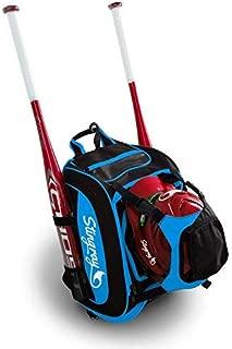 Large Capacity Baseball/Softball Stingray Backpack with Helmet Holder   Adult/Youth/Kids Boys/Girls   Catchers Gear  Fence Hook  Multi Pockets  Bat Equipment Bag for Batting Gloves  T-Ball Sports Pack