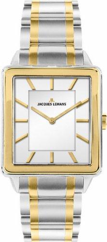 Jacques Lemans Damen-Armbanduhr XS Havana Analog Quarz Edelstahl 1-1577H