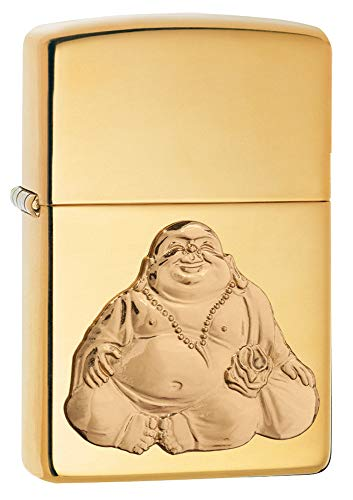 Zippo Boeddha Winddichte aansteker, uniseks, hoogpolig messing, regular