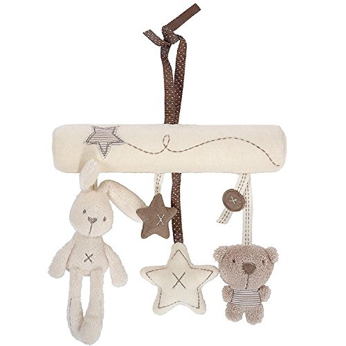 TOOGOO Lapin ou chien Jouet doux pepiniere de bebe lit berceuse musicale mobile