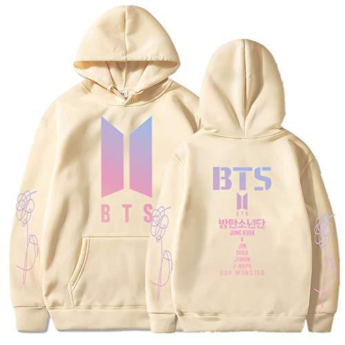 Kapuzenpullover BTS Jacke Sweatshirt für Jungen Mädchen Fox Sweatshirt Männer Hooded Sweatshirt Junior Hoodie M.