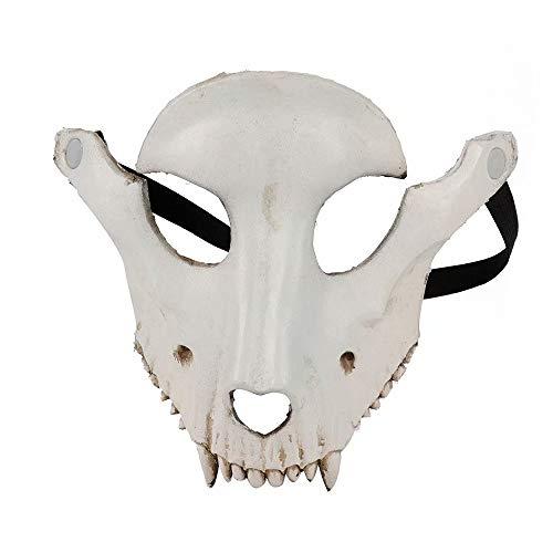 SANDIN Karneval Party Schaf Knochen Maske Unisex Ghost Face Schädel Maske Bösewicht Kostüm Party Prom Halloween Karneval Karneval Requisiten white One size