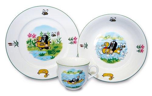 Maulwurfshop - 2001 Kindergeschirr Geschirr Service Der Kleine Maulwurf Motiv Biene 3 Teile im Geschenkkarton
