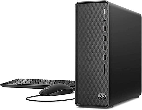 HP 2021 Newest Slim Desktop Tower PC, Intel Celeron G5905 Processor, 16GB DDR4 RAM, 256GB PCIe SSD + 1TB HDD, HDMI, DVD-RW, WiFi, Bluetooth, Wired Keyboard & Mouse, Windows 10 Home, KKE Mousepad