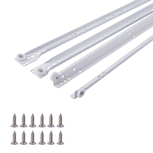 5 Pares 10 X Mprofi MT/® Gu/ías para cajones Gu/ías de Rodillo para caj/ón extracci/ón parcial 17mm x 278mm