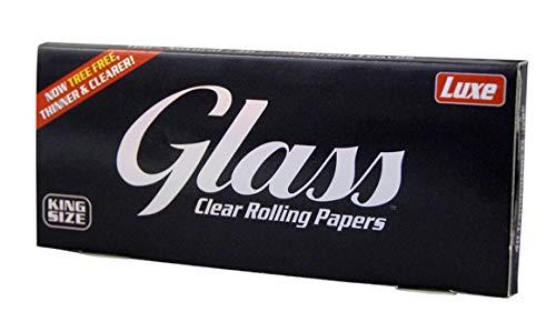 Glass Clear Rolling Papers, King Size Slim Blättchen aus Zellulose, transparent 6 Heftchen
