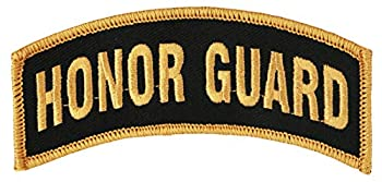 Honor Guard Tab  Large  Black/Gold 4  x 1 7/8  Embroidered Patch