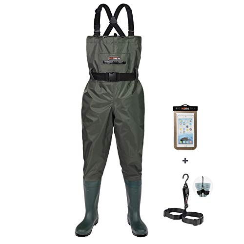 HISEA Upgrade Chest Waders Fishing Waders for Men with Boots