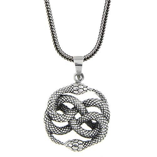 HOPLO Set Auryn Aurin mit schöner geschwärzter hochwertiger Silberkette Mittelalter Antik