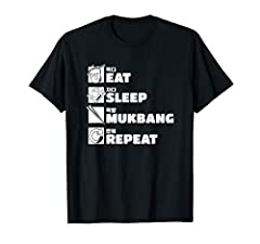 Eating Show Noodles Eat Sleep Mukbang Repeat ASMR Eating design is a great gift for every mukbanger who loves food porn, asmr eating sounds and ramen This funny design features a graphic with noodles, chopsticks and the quote eat sleep mukbang repeat...