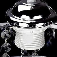 Depuley シャンデリア クリスタル おしゃれ ペンダントライト 1灯 LED対応 E26 クリア ロマンチック ガラス 水晶 天井照明 照明器具 豪華 リビング ダイニング キラキラ 電球別売り シーリングライト 300/1P