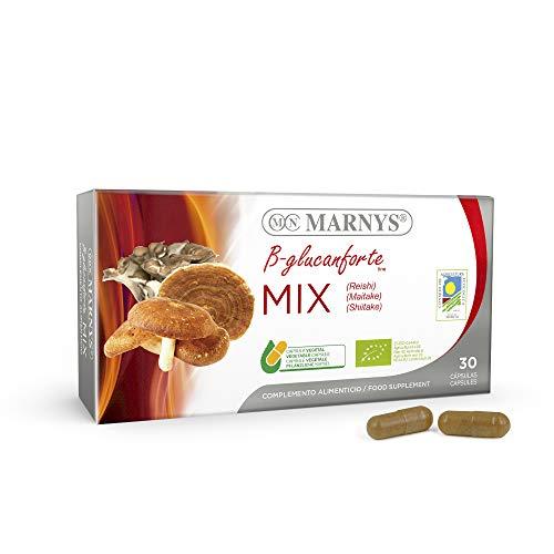 MARNYS Mix Setas BIO. Linea B-glucanforte Extractos de Reishi, Maitake y Shiitake 30 Cápsulas