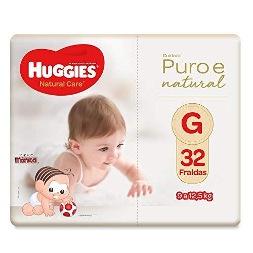 Fralda Huggies Natural Care G, 32 Fraldas, Huggies