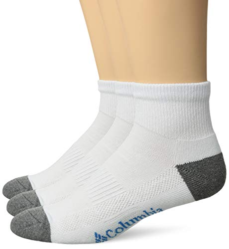Columbia Mens 3-PK. Athletic Ankle Socks 10-13 White