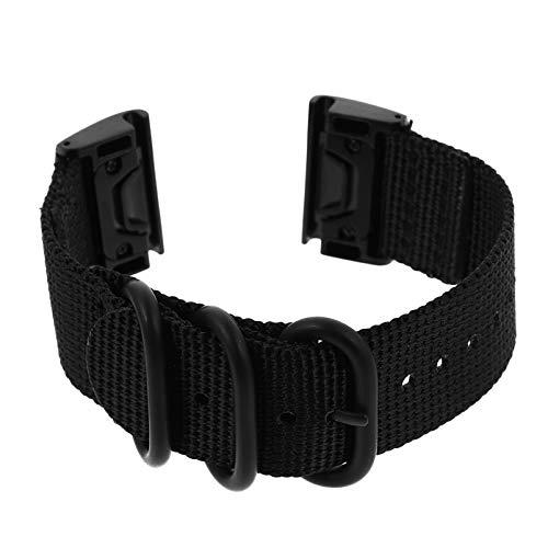 ibasenice Bandas de Reloj de Nailon de Liberación Rápida Correas de Reloj Inteligente Reemplazo de Pulsera Compatible con Garmin Fenix3 HR/ 935/5/ 6X 26Mm