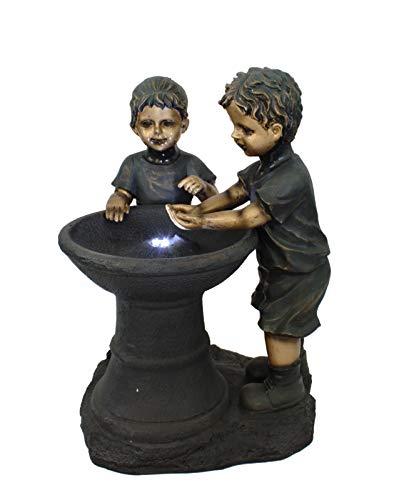 DARO DEKO Garten-Brunnen komplett Set mit Pumpe Kinder dunkel 50cm x 50cm x 70cm