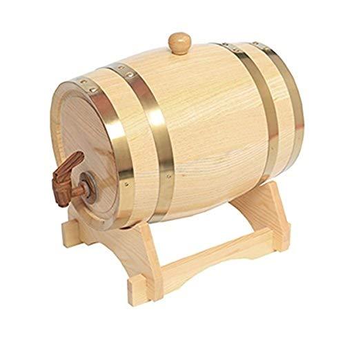 Spillatore Birra Casa Con Botte Botte for Vino In Rovere Vintage Contenitore for Vino In Legno 5L Distributore Di Acqua In Legno for Stoccaggio Aceto Di Whisky Birra Rivestimento In Lamina Di Allumini