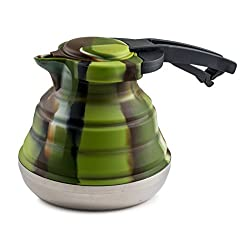 LevelOne Collapsible Silicone Outdoor Camping Kettle
