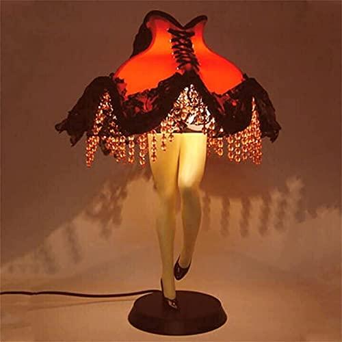HJTLSKBZ Estatua de la lámpara de la Pierna, lámpara de Noche, lámpara de piernas Sexy, lámpara de Mesa Retro, Luces LED para Vestido de Noche,decoración de Fiesta, Dormitorio, hogar-Lights||A