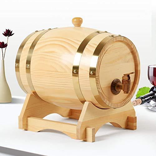 SETSCZY Barril de Vino de Madera, Barril de Cerveza portátil, Envejecimiento doméstico Barril de Cerveza de Madera de Roble, Barril de Vino Equipo de elaboración de Cerveza en el hogar