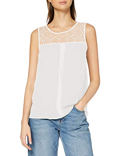 ONLY Damen onlVENICE S/L LACE NOOS WVN Top, Weiß (Cloud Dancer), 44