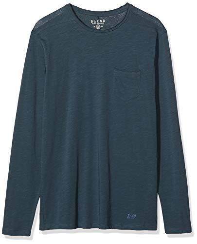 BLEND 20703060 T-Shirt Manches Longues, Bleu Nuit (74636), XL Homme