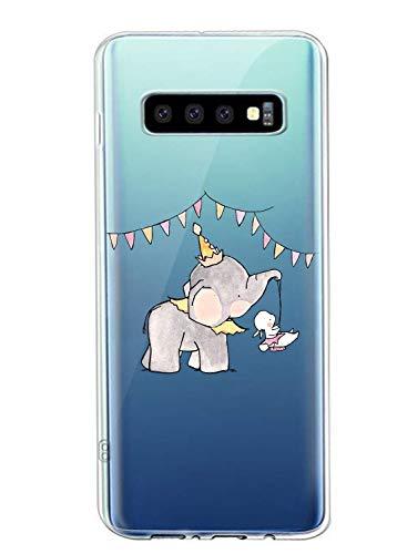 Suhctup Coque Compatible avec Samsung Galaxy S10 5G,Ultra-mince Souple Gel Coque Souple Soft Silicone [Shock-Absorption] Souple Solide Resistant Fine Protection Housse Etui Transparente Motif Tendance