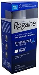 Rogaine Mens Regrowth Foam 5% Unscented 1 Month (2 Pack)