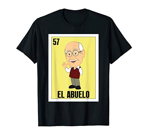 Mens Spanish Grandpa Lottery Gift - Mexican El Abuelo T-Shirt