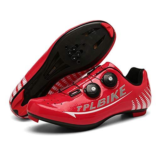 LOCGFF Fahrradschuhe, rutschfeste tragbare Rennradschuhe Fahrradausrüstung Geeignet für Outdoor-Sportfahrräder(EU36, B Road Lock Shoes)