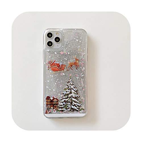 Carcasa flexible para iPhone 11, diseño de árbol brillante con texto en...