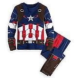 Captain America Pajamas,Captain America Pajamas Boys 100% Cotton Clothes Cartoon Sleepwears Blue