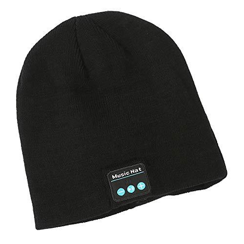 EMYU Bluetooth Hat, Herren kleine Winter drahtlose gestrickte Kappen, geeignet für das Gespräch und das Hören von Musiksport-Fitness-Männer und Frauen-Geschenke für Weihn 02